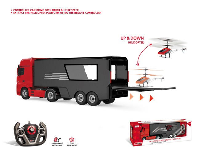 63527 - MERCEDES ACTROS with HELICOPTER