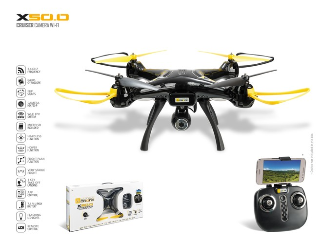 63462 - ULTRADRONE X50.0 CRUISER CAMERA WI-FI
