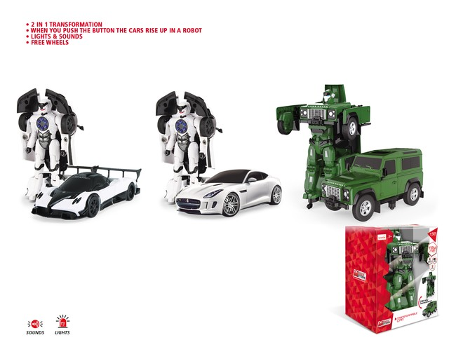 52011 - LICENSE DIE CAST TRANSFORMABLE - with LIGHTS & SOUND