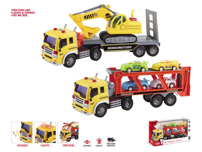 51176 - FRICTION TRAILER TRUCK ASSORTMENT