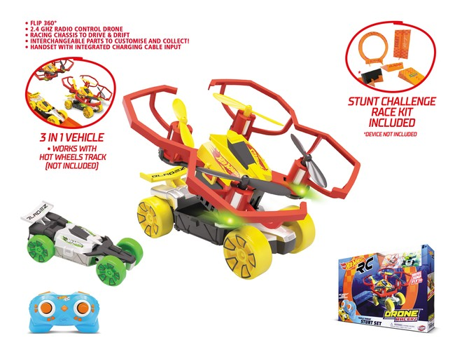 63569 - HOT WHEELS TRIPLE THREAT STUNT SET