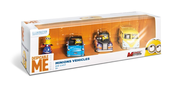 53203 - MINIONS VEHICLES - 4 PCS