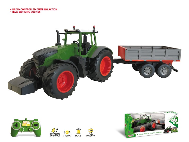63521 - FARM TRACTOR with TRAILER