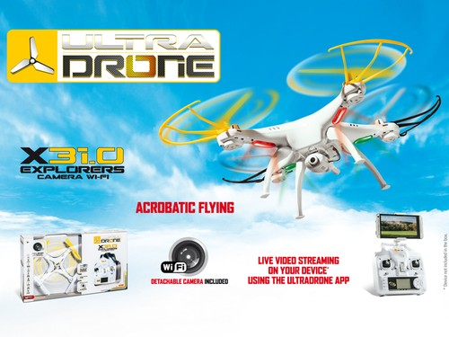 ULTRADRONE X31.0 EXPLORERS CAMERA WI-FI